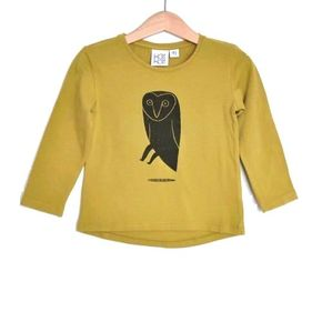 KaiKai T-Shirt with Owl Ocre