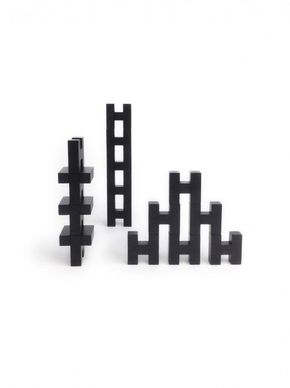 Rock & Pebble H Blocks Black