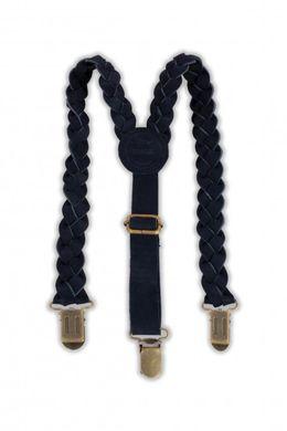 Donsje Leather Braces Suspender Navy