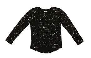 Kukukid AW17 Longsleeve Shirt Black Constellation