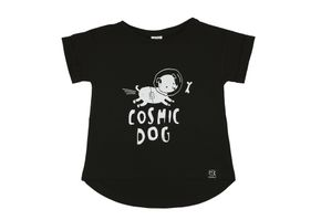 Kukukid AW17 T-Shirt Black Cosmic Dog