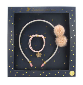Luciole et Petit Pois Hair Clip Gift Box Set Opera Powder Pink