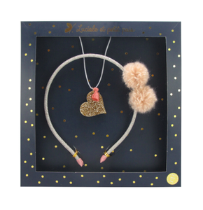 Luciole et Petit Pois Headband Gift Box Set Opera Powder Pink