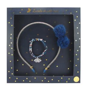 Luciole et Petit Pois Hair Clip Gift Box Set Opera Dark Blue