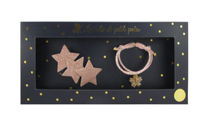 Luciole et Petit Pois Three Star Hair Clip Gift Box Set Pink