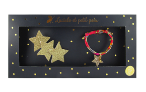 Luciole et Petit Pois Three Star Hair Clip Gift Box Set Gold