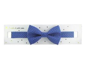 Luciole et Petit Pois Bowtie Azure Dots