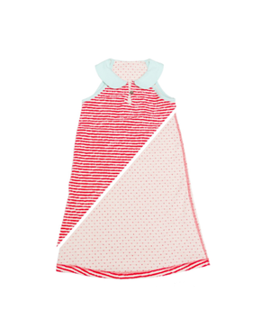 Macarons Peter Pan Collar Dress Crash Strawberry