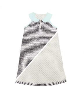 Macarons Peter Pan Collar Dress Crash Navy/Off White