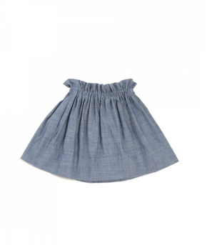 Macarons Ruffled Skirt Denim
