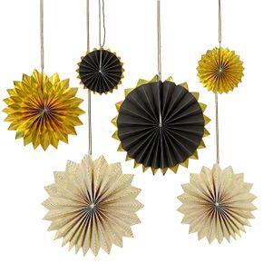 Meri Meri Gold - Black Pinwheels