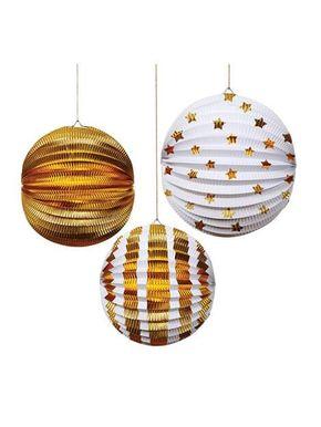 Meri Meri Gold Foil Globes