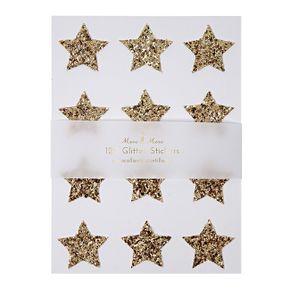 Meri Meri Gold Glitter Star Stickers