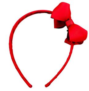 MIlledeux Large Boutique Bow Headband Scarlet