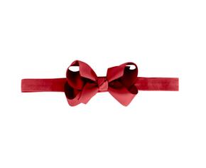 MIlledeux Medium Boutique Bow Elastic Headband Scarlet