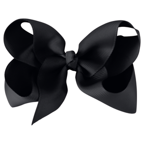 MIlledeux Large Alligator Clip Bow Black