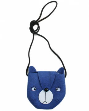 Mini Dressing Bear Bag Blue