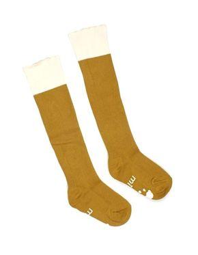 Mini Dressing Knee Socks Cupcake Mustard