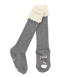 Mini Dressing Knee Socks Cupcake Grey