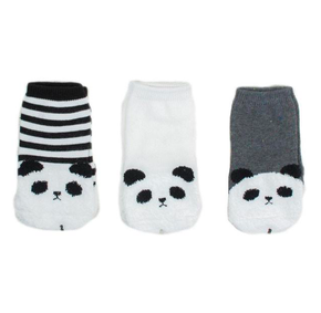 Mini Dressing Fox Knee Socks Panda (set of 3)