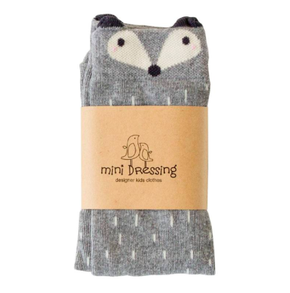 MIni Dressing Racoon Knee Socks Grey