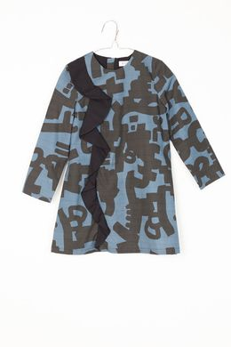 Motoreta AW17 Lyra Dress Blue and Black Print