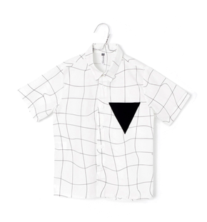 Motoreta Tilo Shirt White with Black Grid
