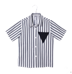 Motoreta Tilo Shirt with Black and White Stripes