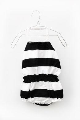 Motoreta Isla Jumpsuit black & white stripes
