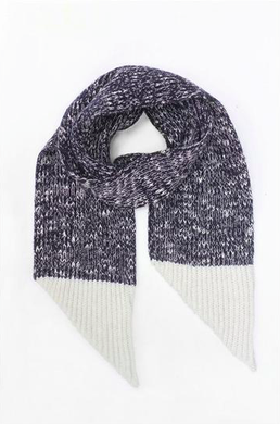 Motoreta Knitted Scarf Marbled Navy and White