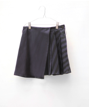 Motoreta Hayako Skirt Black-Blue Stripes