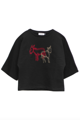 Motoreta Sweater Loto Black with Embroidery