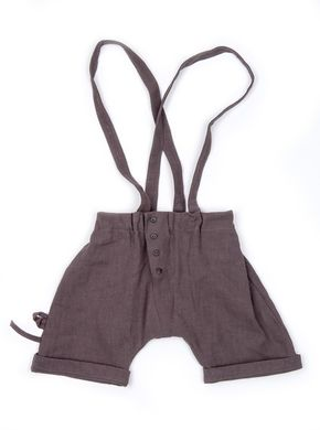 Mouse in a House: Button Shorts with Suspenders