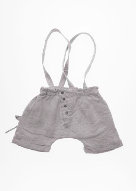 Mouse in a House SS18 Silver Mist Button Shorts
