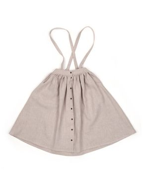 Mouse in a House: Button Skirt Beige