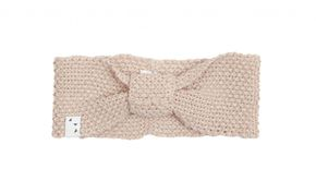 Oolet Linen knitted headband - dust pink