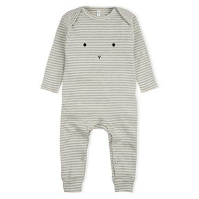 Organic Zoo AW17 Grey Stripes Playsuit Bunny