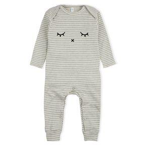 Organic Zoo AW17 Grey Stripes Playsuit Sleepy