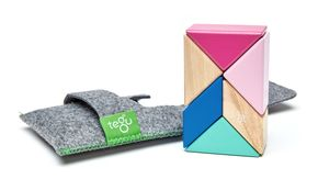 TEGU Prism Pocket Pouch 6 blocks Blossom