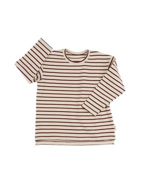 Tiny Cottons Altiplano Stripes Tee Beige and Burgundy