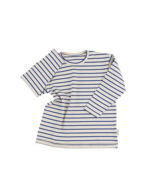 Tiny Cottons Altiplano Stripes Tee Beige and Blue