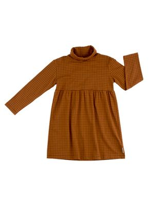 Tiny Cottons Altiplano Grid Turtle Neck Dress