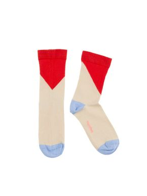 tinycottons SS18 Geometric Medium Socks Red