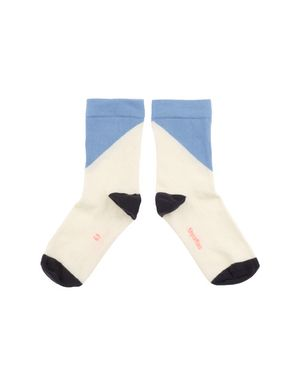 tinycottons SS18 Geometric Medium Socks Blue