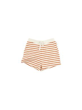 tinycottons SS18 Small Stripes FT Short Off-White/Carmine