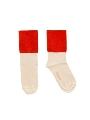 tinycottons SS18 Rib Medium Socks Red