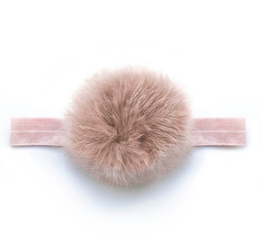 Verity Jones Baby Pom Pom Head Band Mauve