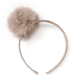 Verity Jones Large Pom Pom Alice Band Mauve