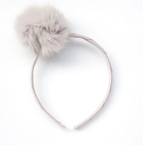 Verity Jones Large Pom Pom Alice Band Off White