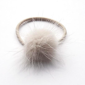 Verity Jones Pom Pom Hair Elastic Small Off White